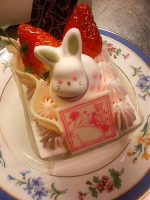 リビドー お正月うさぎショートケーキ