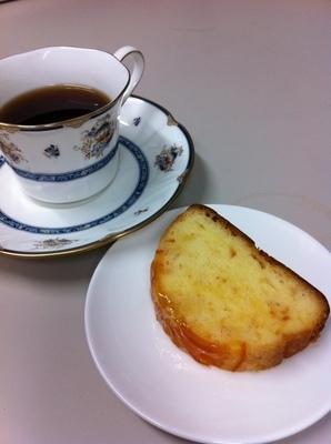 鳥取県皆生のキャフェマリエのパウンドケーキ
